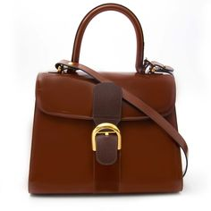 de4ed106f026 View this item and discover similar top handle bags for sale at - Very good  preloved condition Delvaux Brillant MM Bicolor Dark Brown - Marron + strap  The ...
