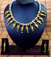Twisted terracotta jewellery set
