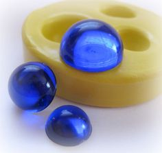 Round Dot Mold Resin Mold Polymer Clay Mould DIY by WhysperFairy, $7.95