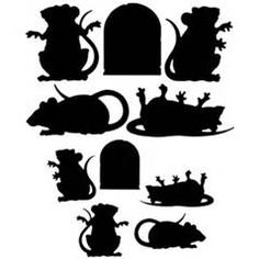 10 Halloween Horror Black Rat Rodent Silhouette Cutouts   eBay