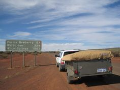 The start of the Outback Way.