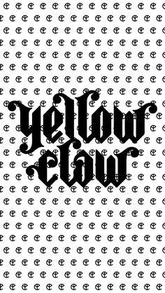 Logo Yellow Claw blanco y negro