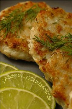 Galettes_de_poisson__pices_aneth_2 Pizza, Quiche, Cheese, Breakfast, Cake, Food, Fish Patties, Seafood, Pisces