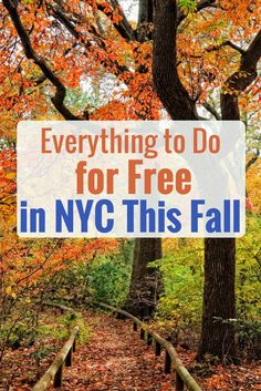 Trips to NYC aren't the most bank account-friendly, what with gourmet dining, ultra-luxe accommodations and high-end shopping pulling at your purse strings. To save you some cash (the holidays are coming up, if you can believe it!), we've rounded up the city's best fall freebies.
