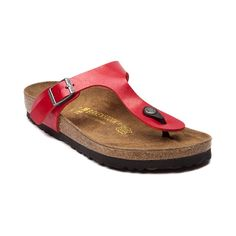 Shop for Womens Birkenstock Gizeh Sandal in Red at Journeys Shoes. Shop today for the hottest brands in mens shoes and womens shoes at Journeys.com.Embrace the loveliness of sandal wearing weather with the Birkenstock Gizeh thong. Features a leather-textured soft fabric upper, adjustable buckle strap, and contoured deep heel cup footbed. Flexible, cushioned EVA sole with a grippy rubber bottom. Available only online at Journeys.com and SHIbyJourneys.com!