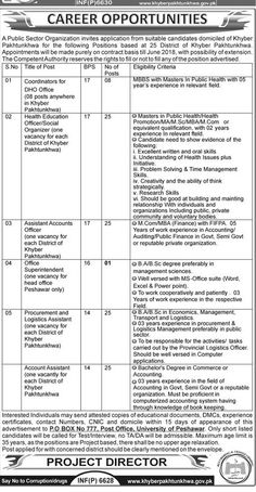 Kpk Health Department Jobs  In Lakki Marwat For Healthcare And