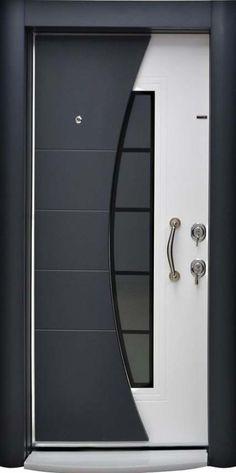 61 Ideas front door design modern ideas for 2019 Wooden Front Door Design, Front Gate Design, Door Gate Design, House Front Design, Modern Front Door, Wooden Doors, Main Entrance Door Design, Grill Door Design, Main Gate Design