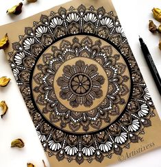 Thinking for yourself and making your own decisions can be frightening. Letting go of other people's expectations can leave you feeling… Mandala Book, Mandala Artwork, Mandala Painting, Mandala Art Therapy, Mandala Art Lesson, Mandala Sketch, Mandala Drawing, Doodle Art Designs, Mehndi Art Designs