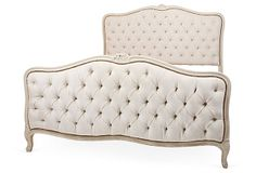 One Kings Lane - French Furniture & Accessories - French Cream Tufted Bed, Full