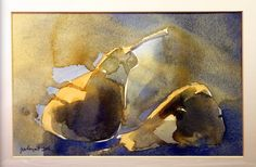 Pears Painting Process, Pictures To Paint, Pears, Watercolours, Still Life, Vibrant Colors, Landscape, Nature, Pictures
