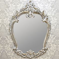 French Style Antique Wash Wall Mirror