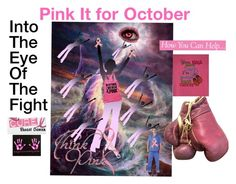 """Pink It For October..."" by marlenajo-b ❤ liked on Polyvore featuring art and pinkit"