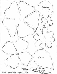 Ideas para el hogar: Plantillas varias formas de flores en fieltro