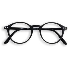 Black round frame reading glasses ($37) ❤ liked on Polyvore featuring accessories, eyewear, eyeglasses, matte glasses, reading eye glasses and reading glasses