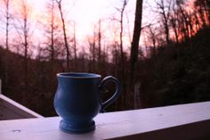 Coffee at Sunrise in the Mountains