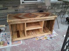 DIY Pallet Media Console and TV Stand | #101Pallets