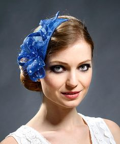 Blue, royal blue lovely fascinator for weddings, parties, races- New style, new fascianator in my 2016 collection