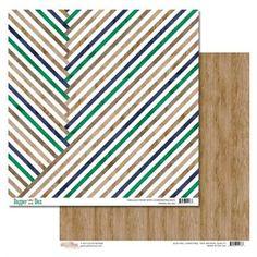 Glitz DAPPER DAN 12x12 Double-Sided Cardstock Sheet - Stripe