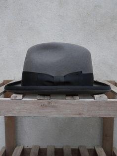Homburg Hat (Grey) by tailsandunexpected.com