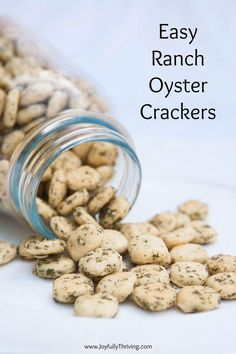 These easy ranch oyster crackers are so tasty! A simple appetizer recipe that everyone loves. #appetizer #easyrecipe #ranch Easy Appetizer Recipes, Yummy Appetizers, Easy Snacks, Cheap Easy Meals, Quick Easy Meals, 5 Ingredient Recipes Easy, Ranch Oyster Crackers, My Favorite Food, Favorite Recipes