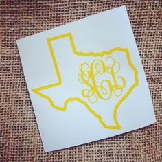 ANY State decal State Sticker Car Decal Monogram by ThreeInitials, $3.00
