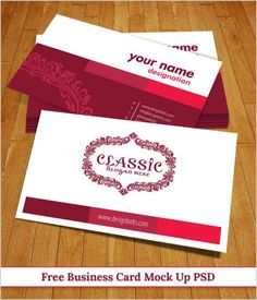 Free Business Card Mock Up PSD Template To Become The First Choice Of Your Clients