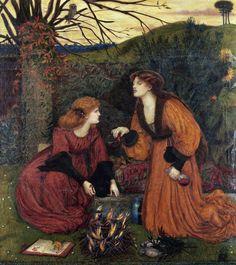 Pharmakeutria (Brewing The Love Philtre) by Marie Spartali Stillman, 1870
