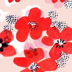 Painted Poppy - Pattern designed by Emily Isabella.