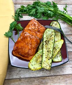 Easy, Healthy Grilled Salmon with BBQ Sauce Recipe. Best Salmon Recipe, Salmon Salad Recipes, Healthy Salmon Recipes, Fish Recipes, Pan Seared Salmon, Grilled Salmon, Baked Salmon, Grilled Squash, Cooking For A Crowd