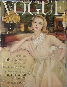 an eye for vintage: Vintage 1960s VOGUE Magazine Covers #60s #retro #vintage