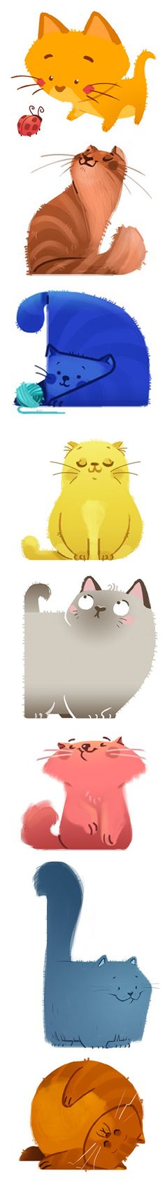 kitties... § Find more artworks: www.pinterest.com/aalishev/ Like us on Facebook: https://www.facebook.com/inspirationpins