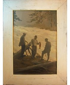 'Admiring the Catch' - Barney Bellinger, Framed Giclée on Canvas