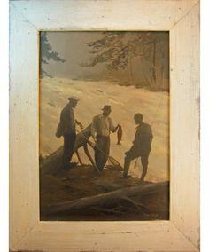 'Admiring the Catch' - Barney Bellinger, Framed Giclée on Canvas