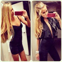 "valeria sokolova skinny blonde hair , ""long hair"" black outfit tall skinny fashion"