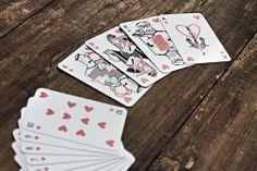 Grafikdesign Kartenspiel, Iluustratoren mit maritimem Thema. Cards Heart Design