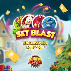 Free Spins and Coin Links: Set Blast event (Active for 30 minutes after you c. Free Casino Slot Games, Daily Rewards, Free Gift Card Generator, Buy Coins, Coin Master Hack, Coin Art, Games Images, Free Slots, Free Gift Cards