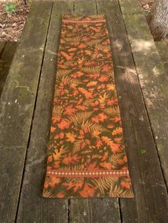 Autumn Table Runner / Brown Gold Orange / 43.5 x by DressYourTable, $20.00