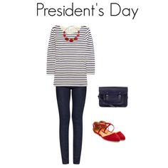 Red, white and blue outfit