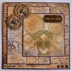Misseke's House of Crafts: Through the looking glasses - masculine card with Do Crafts Chronology line