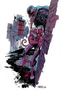 Bog venom spidey color final sm - Comic Illustrations by James Harren  <3 <3
