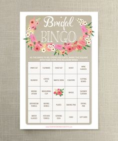 "When it comes to the bridal shower, nothing breaks the ice better than a good game. Keeping it easy on the maid of honor, we found 10 affordable and (mostly) printable games that are sure to be a hit. Take your pick from Mad Libs that offer humorous advice, a guilty game of ""he said, she said,"" or even a couples cootie catcher for your favorite '90s-loving bride. Whatever you choose to print or play, these games will get the party started and memories flowing — just in time for her big day!"