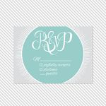 Badge Wedding Printable Reply Card | a part of the Badge Printable Wedding Invitation Suite from Caroline Fausel Paper Co.