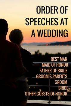 wedding speech order