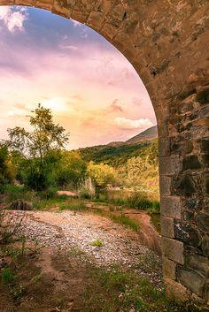 #sunset #forest #bridge #greece #Αρκαδικος ποταμος #κυπαρισσία #κοινοτητα_τριπυλης