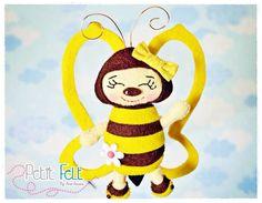 Felt bee - abelha de feltro