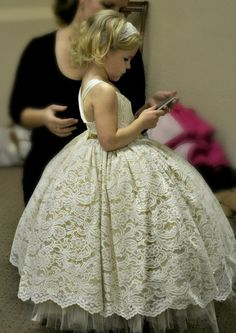 flower girl dress, lace and gold sequin ivory tutu dress, lace flower girl dress on Etsy, $249.00