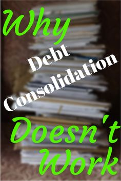 Have you ever thought about Debt Consolidation to get out of debt? My latest article shows why it doesn't work, and what actually works better to get you the permanent debt freedom that everybody wants. #debt #freedom  Photo Credit: Keith Williamson via Compfight cc