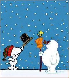 Snoopy Woodstock & Frosty The Snowman - 📌❤️📌 Teresa Hughes 📌❤️📌 - karikatur Peanuts Christmas, Charlie Brown Christmas, Christmas Love, Xmas, Snoopy Feliz, Snoopy Und Woodstock, Snoopy Images, Snoopy Pictures, Peanuts Cartoon