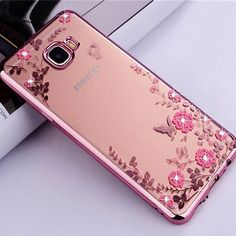 Flower Silicon Case For Samsung A7 2017 Case Bling Diamond Soft TPU Clear Rubber  Cover for Samsung Galaxy A7 2017 Cases A720  #Affiliate