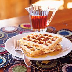 Bacon Maple Waffles - Interesting recipe:  crumbled bacon and maple syrup in the batter.  Sounds awesome but reviewers either loved or hated it.  Hmmmm...  worth a try!